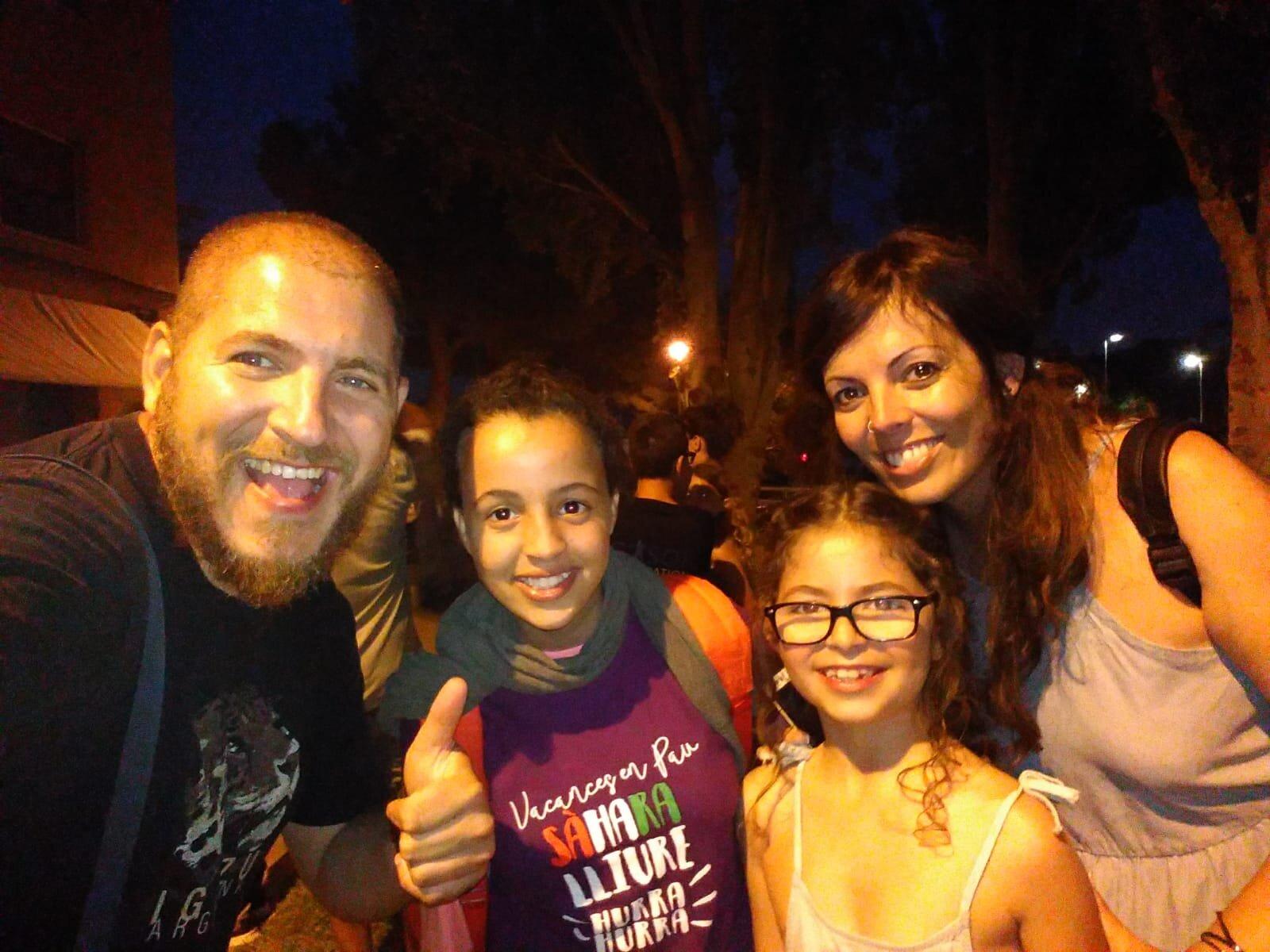 Vacances en pau. Família Ramírez-Acosta
